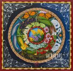 flowers, plants, animals in the center of mandala